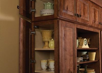 Front Facing and Functional End Cabinetry