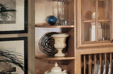 Square Top/Bottom Shelf Whatnot Shelves