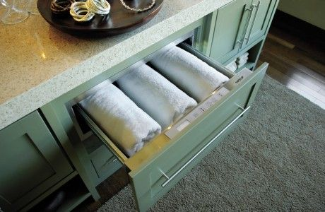 Mint Towel Drawer