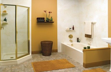 Corner Spacesaver Shower with Tub