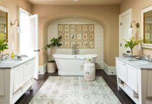 Freestanding Tub in Large Bathroom