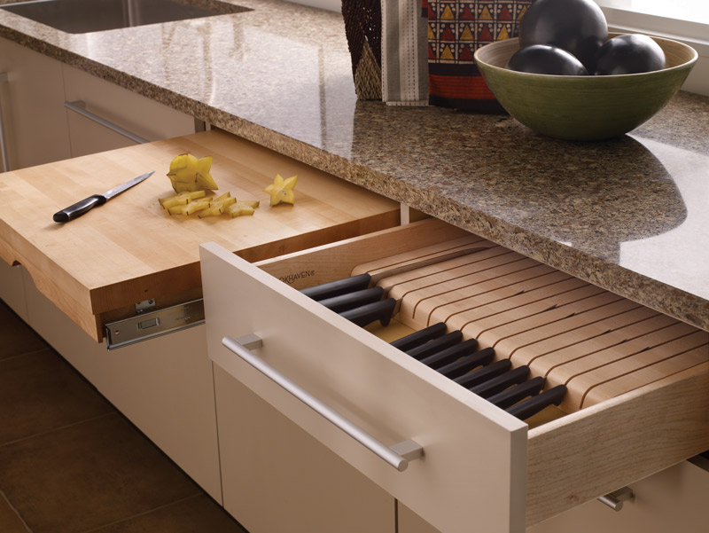 Knife Block and Cutting Board Cabinetry