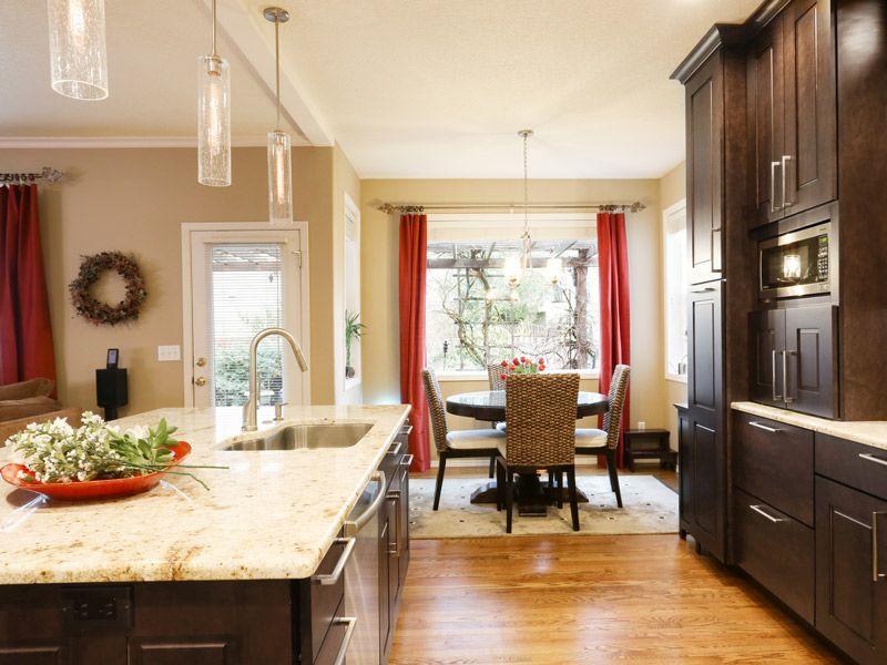 Dark Kitchen Cabinets with Undermount Sink
