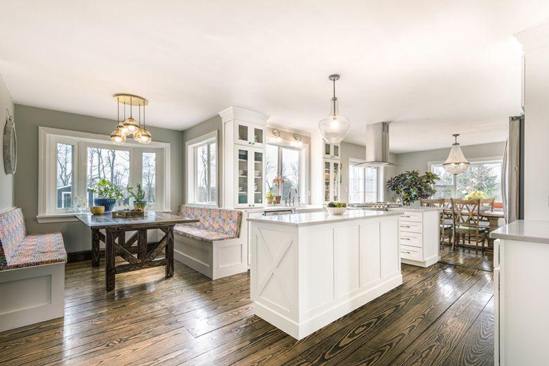 White Kitchen with Corner Dinette