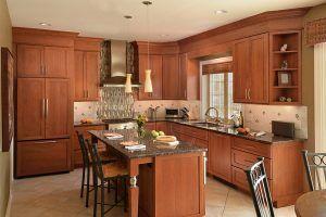 Wood Grain Kitchen Cabinets
