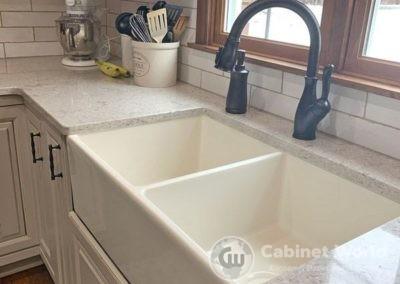 Farmhouse Sink with Subway Tile