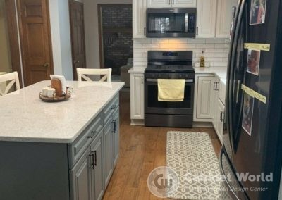 White and Gray Kitchen Cabinetry