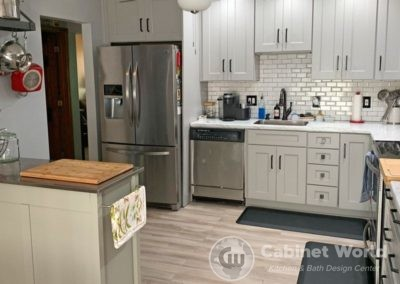 Kitchen Remodel with Light Gray Cabinets