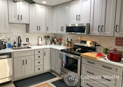 Light Gray Cabinets Kitchen Design