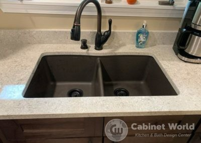 Oil Bronze Kitchen Sink and Faucet
