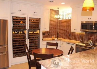 Basement Kitchen with Wine Rack