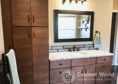 Bathroom Design with Stained Vanity