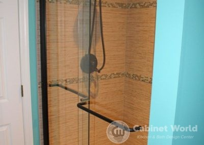 Custom Tile Shower with Oil Rubbed Bronze Hardware