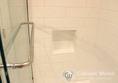 Tile Shower with Inset Shelf