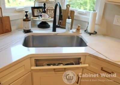 Front Sink Tip Out Tray
