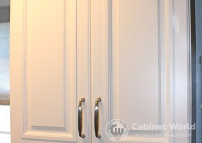 Kitchen Cabinetry with Chrome Handle