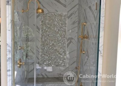 Luxury Shower Design with Gold Fittings