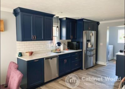 Navy Kitchen Design by Kristen Murphy
