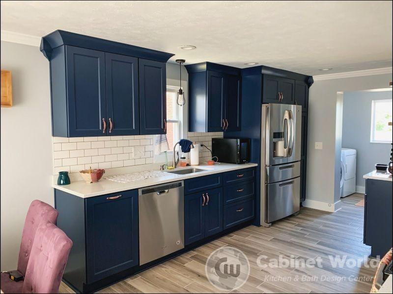 Navy Kitchen Design by Kristen Murphy
