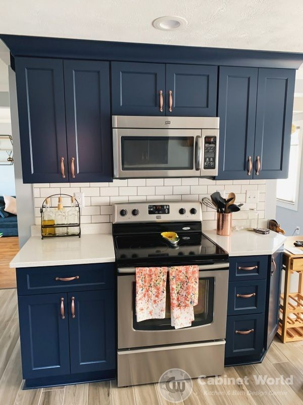 navy kitchen designkristen murphy  cabinet world of pa