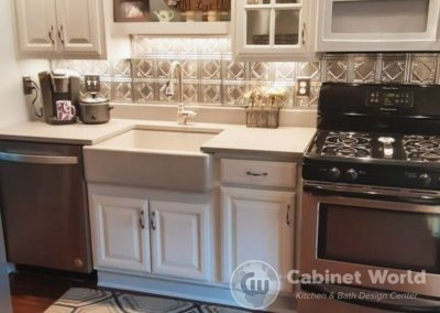 Kitchen Design with Painted Cabinets in Beaver by Kristen Murphy
