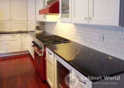 Retro Kitchen Design with Custom Red and White Appliances