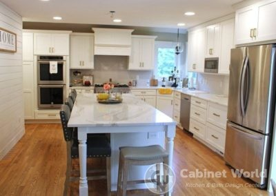 Modern White Kitchen Design by Pam Pechalk
