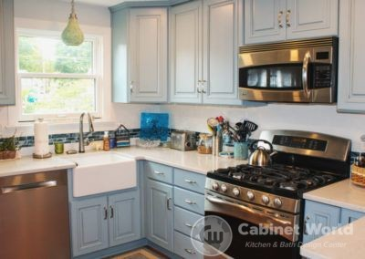Aqua Kitchen Design in Cranberry by Pam Pechalk