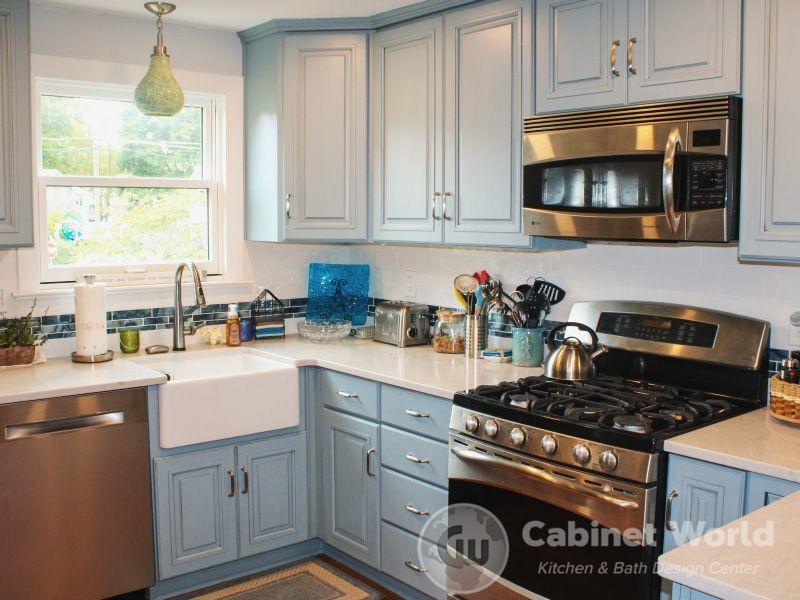 Aqua Kitchen Design in Cranberry by Pam Pechalk