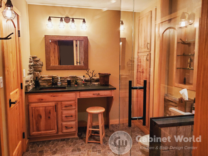 Rustic Bath Design in Butler by Mindy Mohney